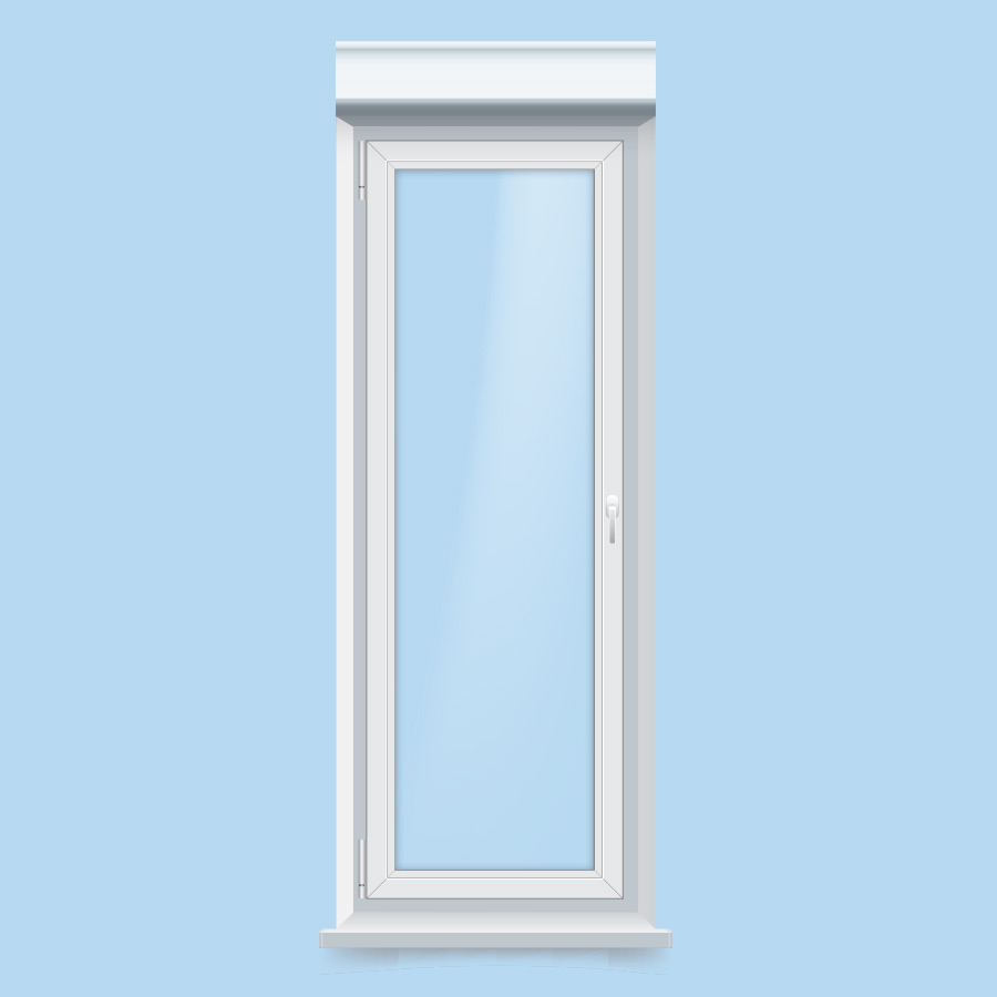ventana pvc balconera con persiana